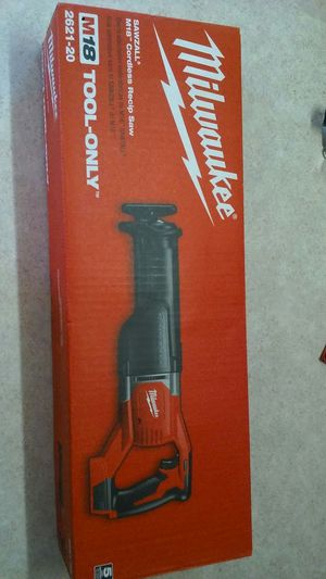 Milwaukee 18v lithium cordless reciprocating saw for Sale in Owensville, MO