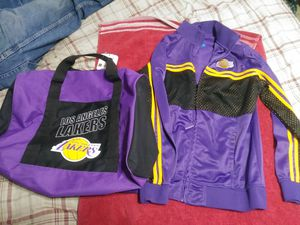 Lakers duffle bag and sweater for Sale in Ontario, CA