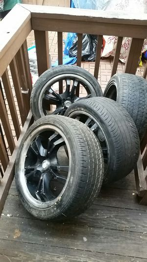 4 rims and tires for sale 300 obo. for Sale in Springfield, VA