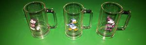 Vintage (3) Disney Glass Cups/Mugs for Sale in Nashville, TN