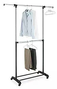 Garment Rack - Adjustable 2-Rod - Rolling Clothes Organizer - 5 available for Sale in Pompano Beach, FL