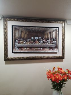 Jesus Vintage Huge Picture Painting In Frame$150 for Sale in Garden Grove,  CA