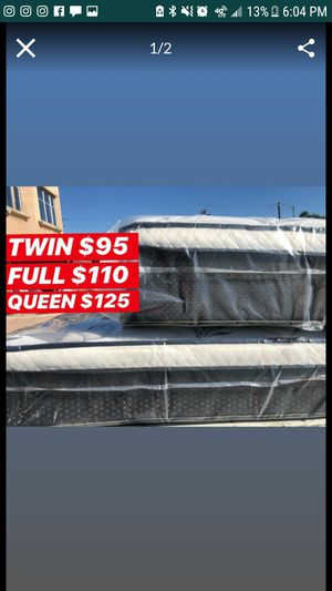 PILLOW TOP MATTRESSES ☎️📲 •10inches thick •same day delivery or pick up •twin $95 •Full $110 •queen $120 $15 -$25 for delivery 🚚 for Sale in South Gate, CA