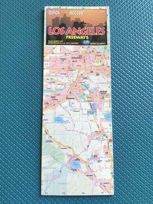 Los Angeles Laminated Map for Sale in Los Angeles, CA
