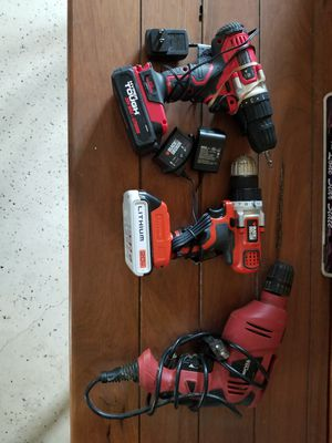 Cordless 20v drills 2ea one electric drill for Sale in Garden Ridge, TX