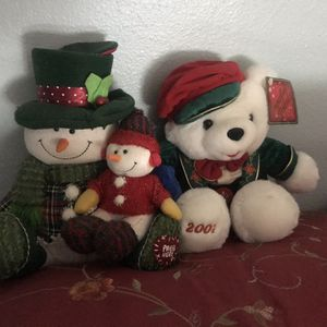 Three Plush Christmas Dolls for Sale in Camp Pendleton North, CA