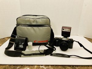 Vintage 1983 Canon T50 35mm SLR Film Camera & Flash AMAZING CONDITION for Sale in Spring Hill, FL