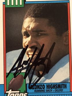 Alonzo Highsmith 1990 Topps Houston Oilers #220 for Sale in Edwardsville,  IL