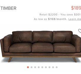 Designer Leather Sofa for Sale in Gardena,  CA