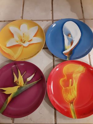 Set of 4, Givenchy Brand Dessert Plates for Sale in Capitola, CA