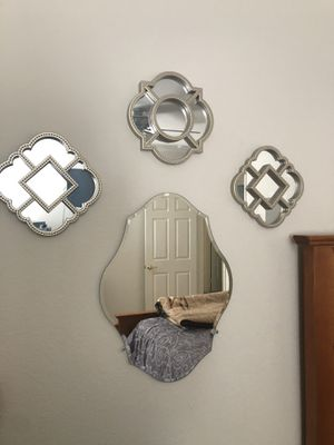 Wall Mirrors-1 medium beveled/3 small for Sale in Moreno Valley, CA