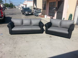 NEW 7X9FT CHARCOAL LEATHER COMBO SECTIONAL COUCHES for Sale in Chula Vista, CA