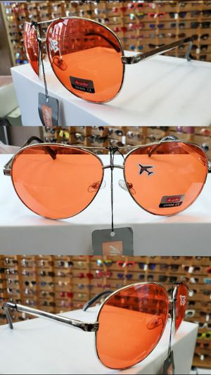 AVIATOR Sunglasses with ORANGE Lenses 100% UV400 Protection for Sale in Long Beach, CA