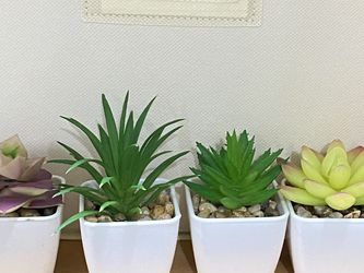 Fake Succulent Plants Artificial - 4pcs Plastic Mini Potted Fake Succulents for Sale in Hayward,  CA