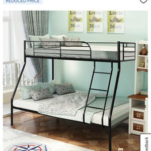 Twin Over Full - Metal - Bunk Bed ( Only Frame) for Sale in Alpharetta, GA