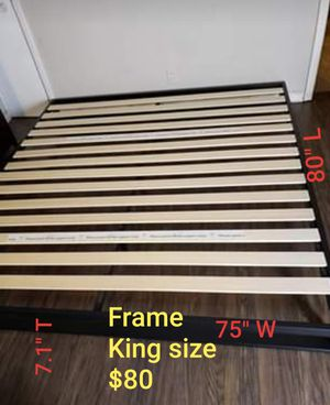 Platform bed frame king size. Brand new. Free delivery Modesto Stockton for Sale in Modesto, CA