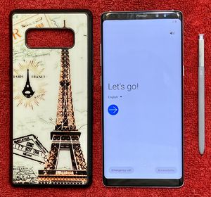 Samsung Note 8 Unlocked - with new battery, new stylus and wireless charger for Sale in San Antonio, TX