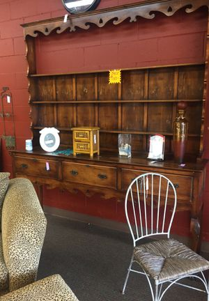 Large hutch pine vintage side buffet for Sale in Huntington Beach, CA