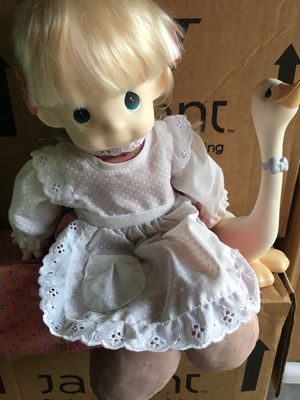 Precious Moments Dolls with Goose and stand for Sale in Apex, NC