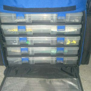 Fishing Tackle Bag And A Bunch Of Tackle for Sale in Westminster, CA