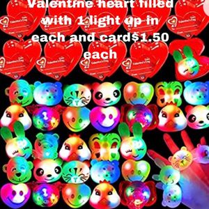 Pre Filled Hearts With Lighted Rings And A Card for Sale in Westley, CA