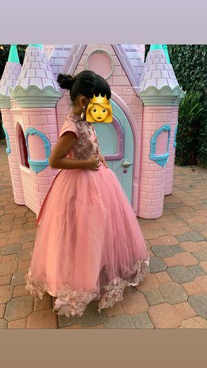 Flower girl dress / party dress/ dress/ pink dress/ wedding dress/ flower dress/ princess for Sale in Anaheim, CA