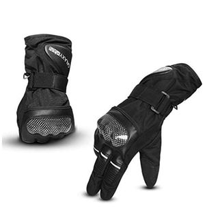 Winter Motorcycle Gloves Touchscreen Warm Waterproof Gloves with Hard Knuckle Protection for Motorbike Riding ATV Scooter Snowmobile Outdoor (L) for Sale in Hacienda Heights, CA