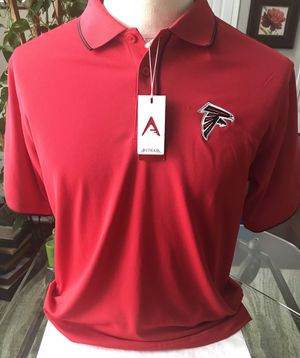 Atlanta Falcons Antigua Mens Polo Shirt Red SZ Medium NWT NFL Team Apparel for Sale in Mableton, GA