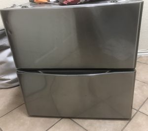 Silver washer and dryer pedestals $100 for Sale in DeSoto, TX