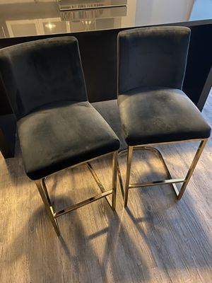 Contemporary Black & Gold Stools for Sale in Boston, MA