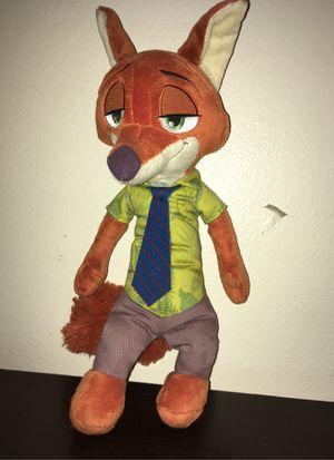 zootopia NICK WILDE plush talks toy for Sale in Huntington Park, CA