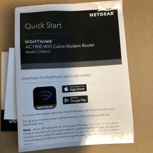 Netgear Nighthawk Wifi Cable Modem Router for Sale in Phoenix, AZ