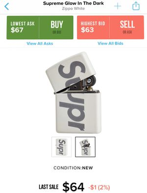 Supreme Zippo Glow in the Dark lighter for Sale in Queens, NY