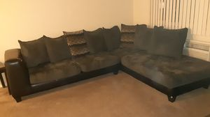 Black and grey sectional still look fine no pets or nun so none of that to worry about couch is nice a lil wear and tear but still decent best offer for Sale in Detroit, MI