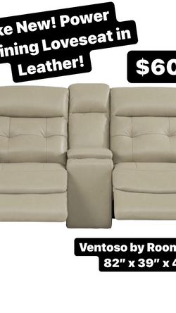 Reclining Loveseat in Leather! Rooms To Go for Sale in Round Rock,  TX
