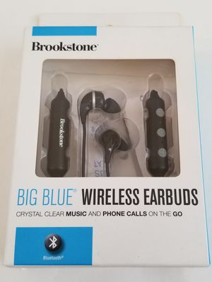 Brookstone BIG BLUE Wireless Bluetooth Earbuds for Sale in Hawthorne, CA