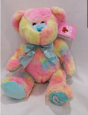 "NEW!!14"" Rainbow Teddy Bear Tie Dye Colorful Hug Fun Soft Cuddly Plush for Sale in Miami, FL"