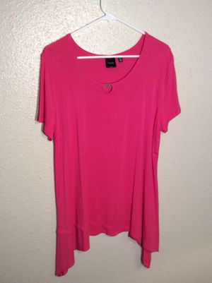 Brand New Women's Pink Rose RAFAELLA Stretch Spandex Tunic Top Dress in package - size XL for Sale in Austin, TX