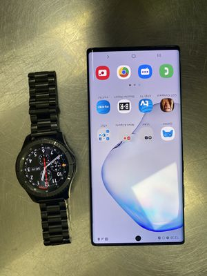 Samsung Note 10+ & S3 frontier watch bundle for Sale in Gaithersburg, MD