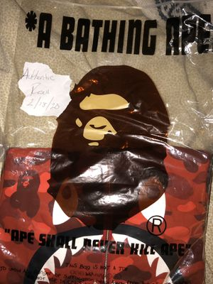 Bape Red Camo Shark Zip Crewneck for Sale in Central Islip, NY