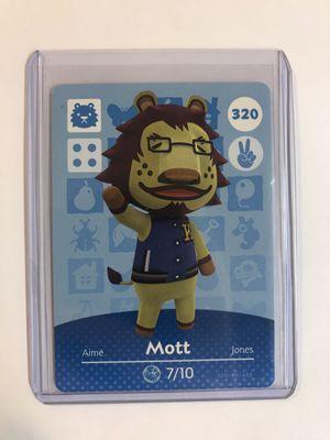 Animal Crossing Amiibo card Mott 320 for Sale in Cambridge, MA