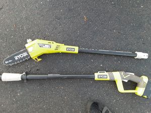 Ryobi Cordless 18V One+ Pole Saw with 18V 4.0ah Battery for Sale in Sacramento, CA