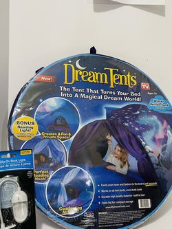 Dream Tents Winter Wonderland with clip-on reading light for Sale in San Antonio,  TX