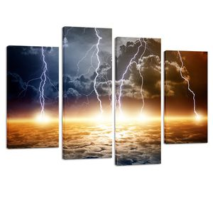 Large Lightening Bolt Strikes on the Ocean Wall Art for Sale in Hemet, CA