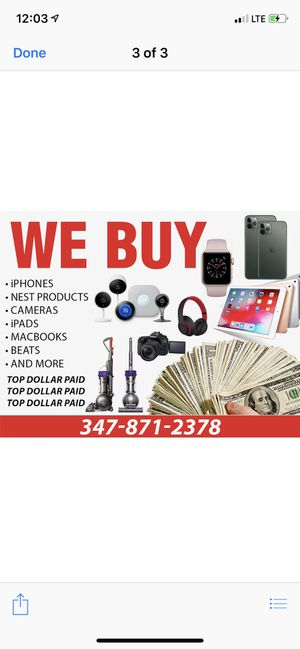 Top dollar for iPhone MacBooks drones nest PS4 and more for Sale in The Bronx, NY