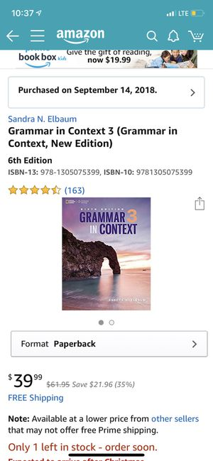 Grammar in context 3 Sandra N Elbaum for Sale in Cleveland, OH
