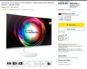 "Samsung Qled 27"" Curved Monitor. for Sale in Perris, CA"
