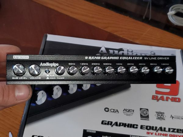 9 BAND AUDIOPIPE EQUALIZER PERFECT FOR TWEAKING YOUR CAR AUDIO SYSTEMS LIKE A PRO