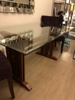 Glass and Wood Dining Table for Sale in Santa Monica, CA