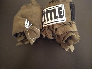 Green title boxing hand wraps for Sale in Arlington, TX